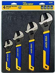 IRWIN VISE-GRIP Adjustable Wrench Set, SAE/MM, 4-Piece (2078706)