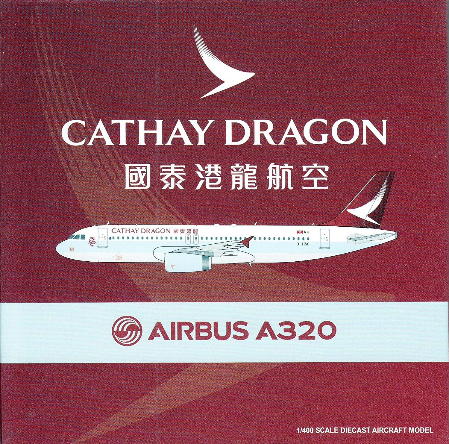 Amazon com: JCW4956 1:400 JC Wings Cathay Dragon Airbus A320