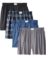 Tommy Hilfiger Men's 4-Pack Assorted Woven Boxer