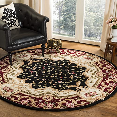 Safavieh Naples Collection NA508B Handmade Traditional European Floral Wool Area Rug