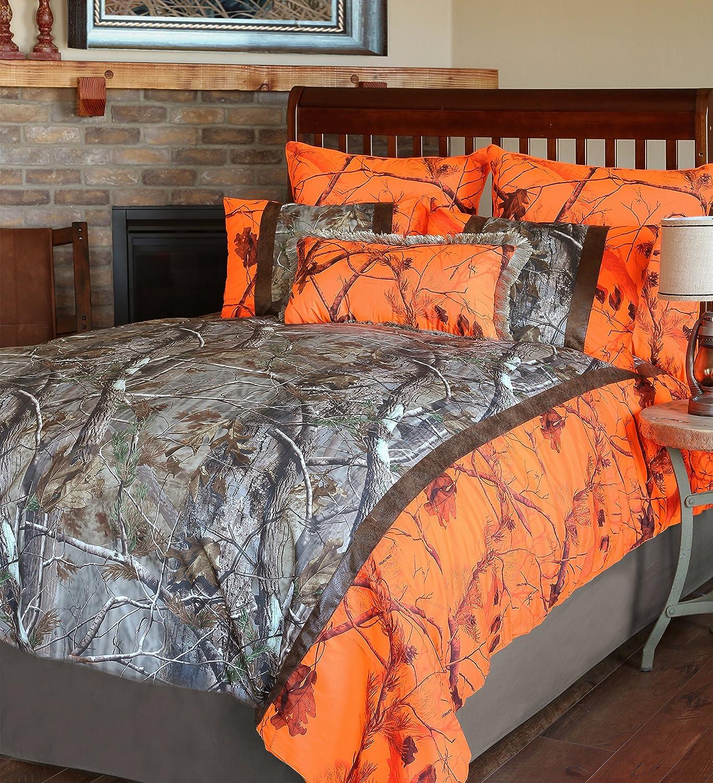Carstens Realtree Camo AP Blaze 4 Piece Comforter Bedding Set, King
