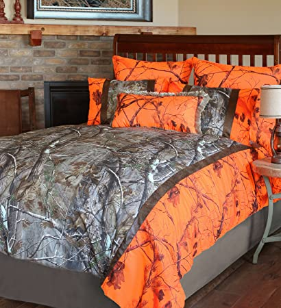 Carstens Realtree Camo Ap Blaze 4 Piece Comforter Bedding Set Queen