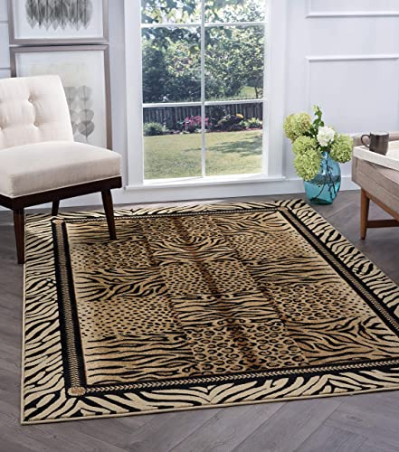 Tayse Savannah Beige 8x11 Rectangle Area Rug