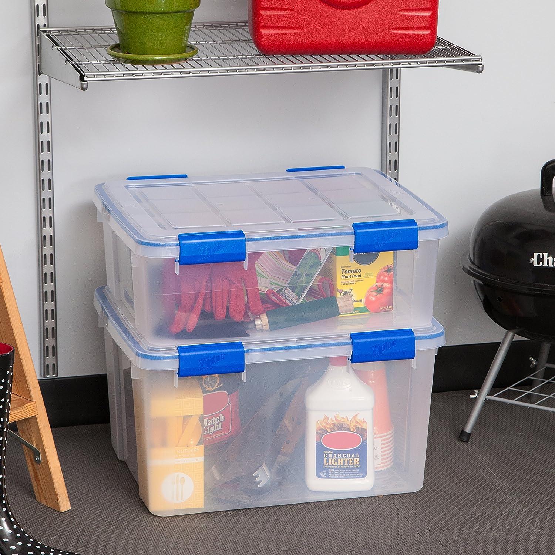 IRIS USA Storage Box 26.5 and 44 Quart Clear 4 Pack