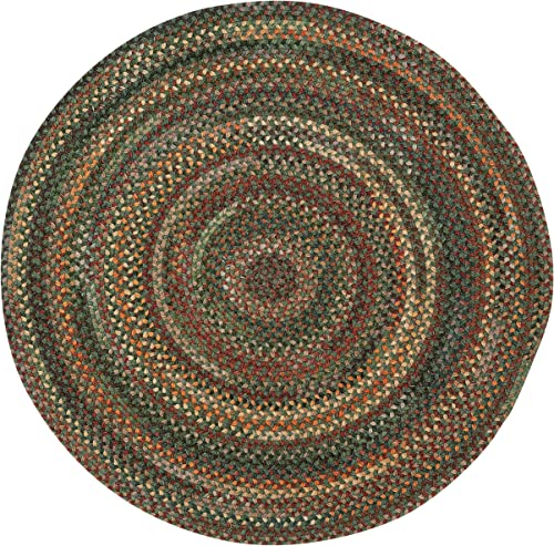 Capel Rugs American Heritage Green Multi 8 0 Round Braided Rug