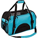 Pettom Pet Carrier for Dogs & Cats Comfort Airline Approved Travel Tote Soft Sided Bag for Pets