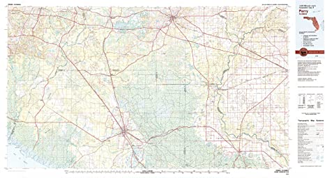 Amazon Com Yellowmaps Perry Fl Topo Map 1 100000 Scale 30 X 60