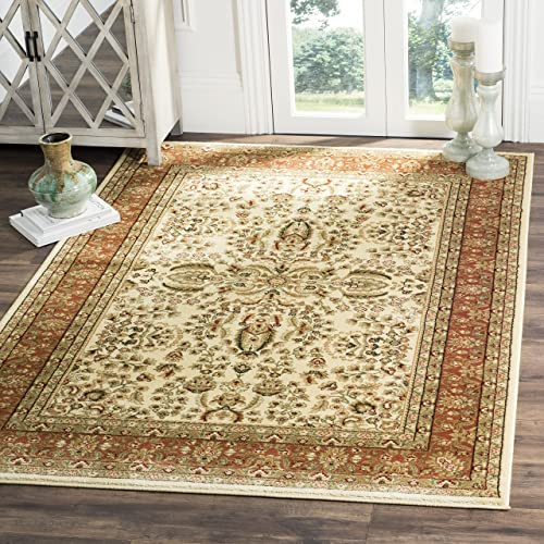 Safavieh Lyndhurst Collection LNH214R Traditional Oriental Ivory and Rust Area Rug 4 x 6