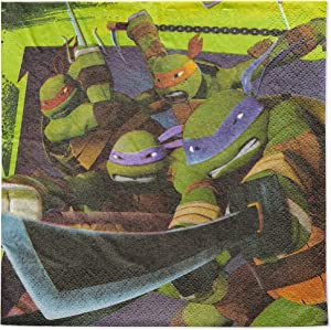 American Greetings Teenage Mutant Ninja Turtles (TMNT) Party Supplies, Paper Lunch Napkins (48-Count)