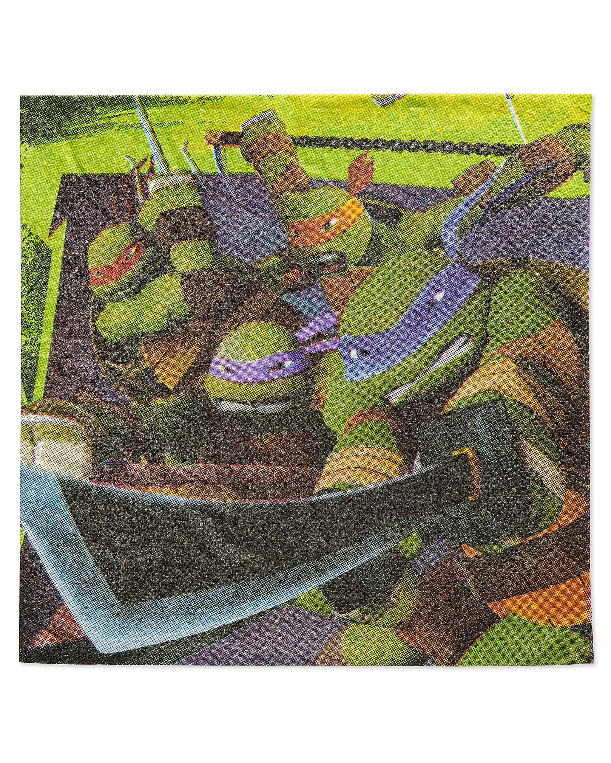 American Greetings Teenage Mutant Ninja Turtle Party Supplies, Paper Lunch Napkins, 48-Count by American Greetings/ Nickelodeon