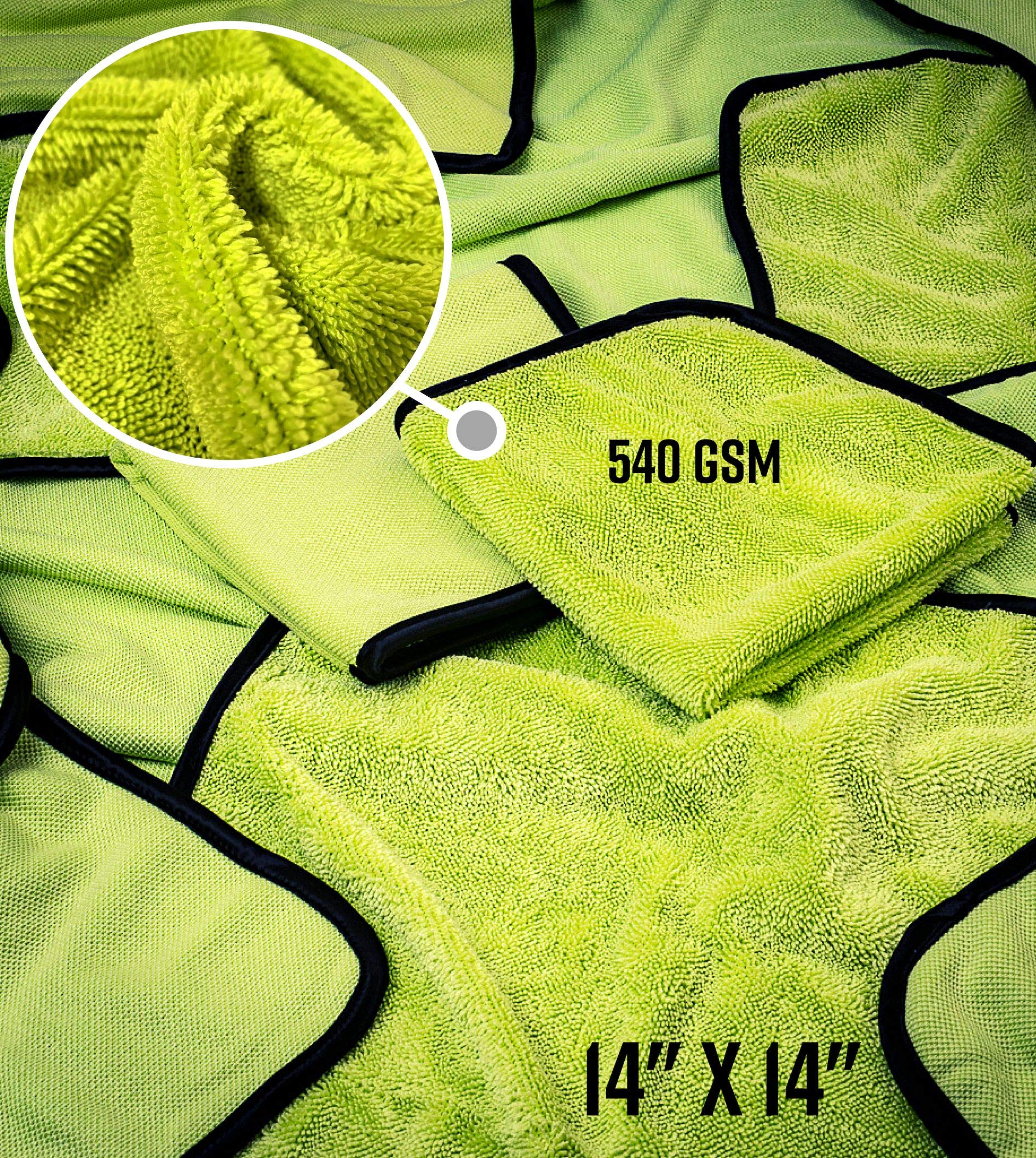 Adam's Essential Towel Bundle - The Best Collection of Car Cleaning, Washing, Drying & Detailing Microfiber Cloths - Wax, Polish, Wash & Dry Your Vehicle with Adam's Soft Car Towels by Adam's Polishes (Image #4)