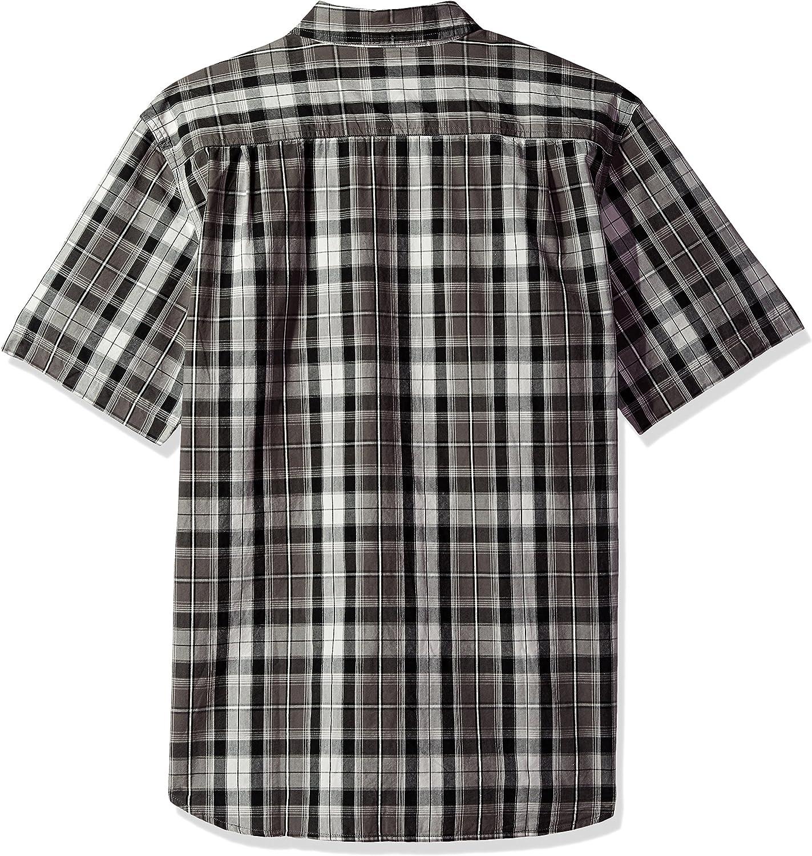 Carhartt Mens Essential Plaid Open Collar Short Sleeve Shirt