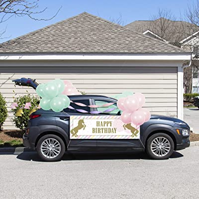 Sparkle Unicorn Birthday Parade Car Decorations Kit: Toys & Games