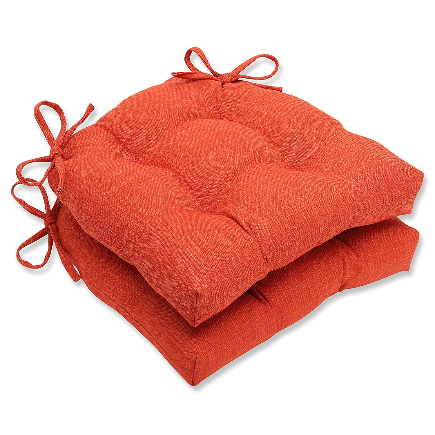 """Pillow Perfect Pure Shock Reversible Chair Pad, Set of 2, 16"""" x 4"""" x 15.5"""""""