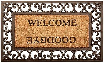 Esschert Design Welcome/Goodbye Door Mat   Rectangle
