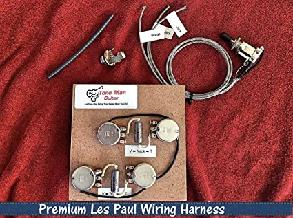 amazon com the 59 gibson epiphone les paul premium prewired 50s rh amazon com gibson les paul 50s wiring harness Les Paul Wiring Mods