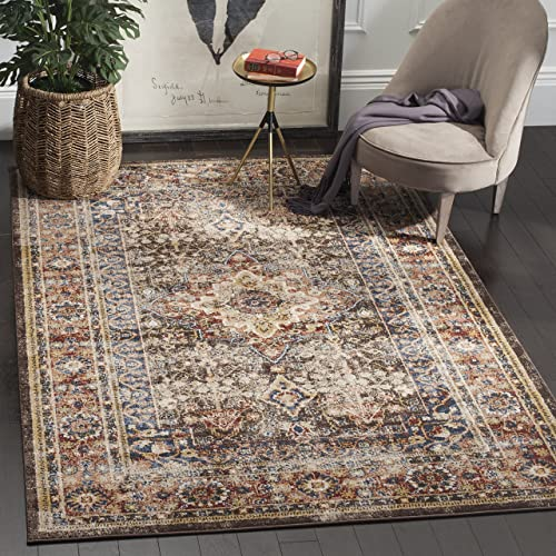 Safavieh Bijar Collection BIJ652D Traditional Oriental Vintage Brown and Rust Area Rug 4 x 6