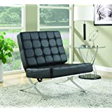 Coaster Home Furnishings Accent Chair, Black/Black
