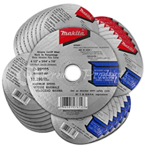 """Makita 30 Pack - 4.5"""" Cut Off Wheels For Grinders - Aggressive Cutting For Metal & Stainless Steel/INOX - 4-1/2"""" x .045 x 7/8-Inch"""