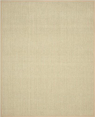 Safavieh Natural Fiber Collection NF475B Hand Woven Beige Wool Sisal Area Rug 9 x 12