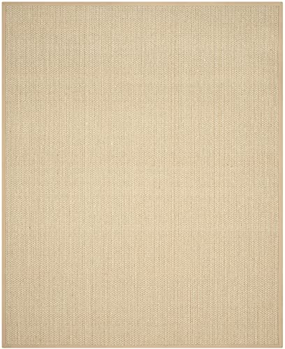 Safavieh Natural Fiber Collection NF475B Hand Woven Beige Wool Sisal Area Rug 9 x 12