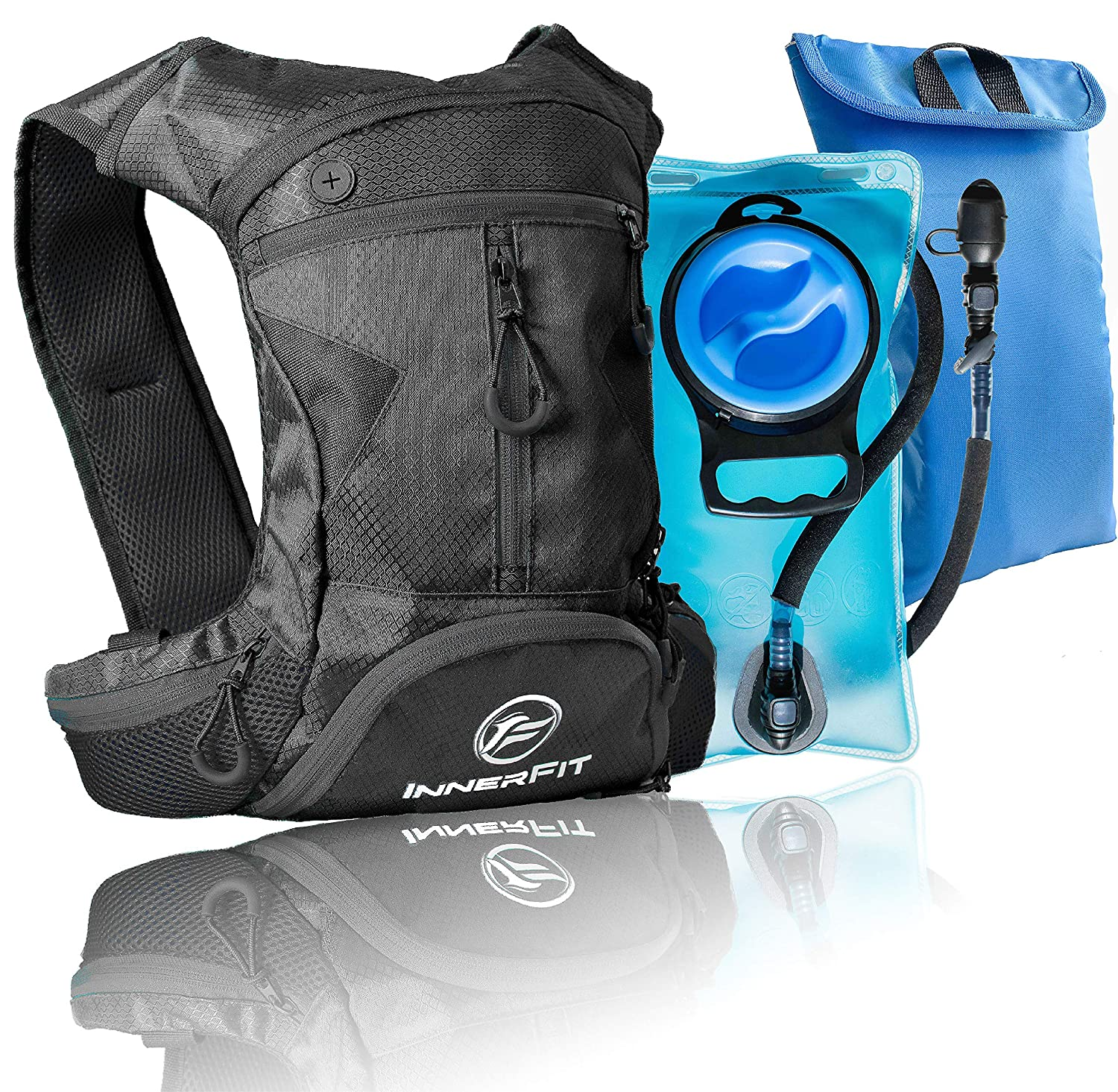 1390baa149ee InnerFit Insulated Hydration Backpack and Water Bladder, Durable Camel  Backpack Hydration Pack - Running, Hiking, Biking and Outdoor Activities -  ...