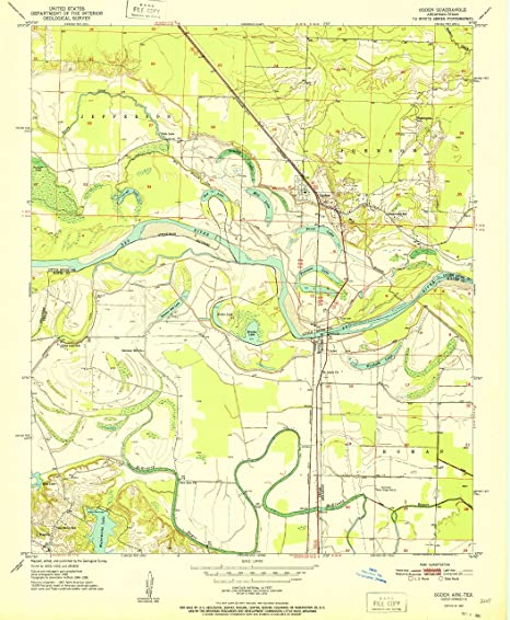 Amazon.com : YellowMaps Ogden AR topo map, 1:24000 Scale, 7.5 X 7.5 ...