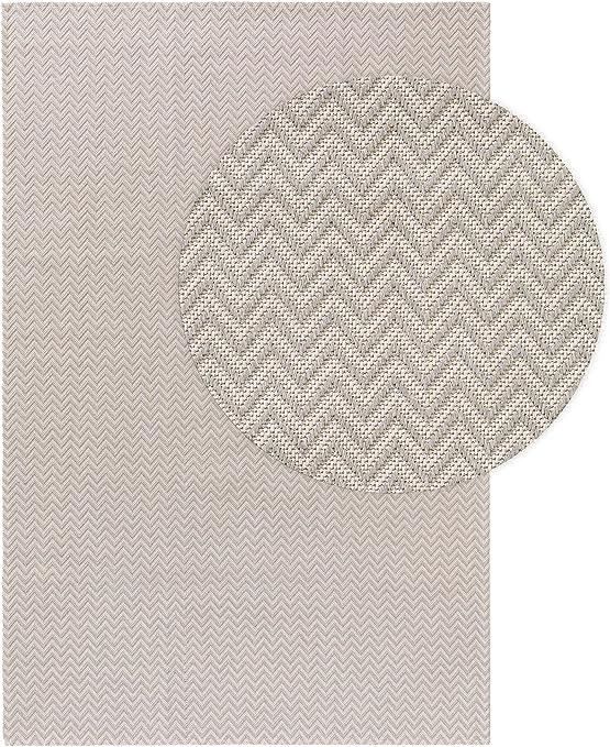 benuta NaturalLS - Alfombra de algodón Lavable, Gris Claro, 130 x ...