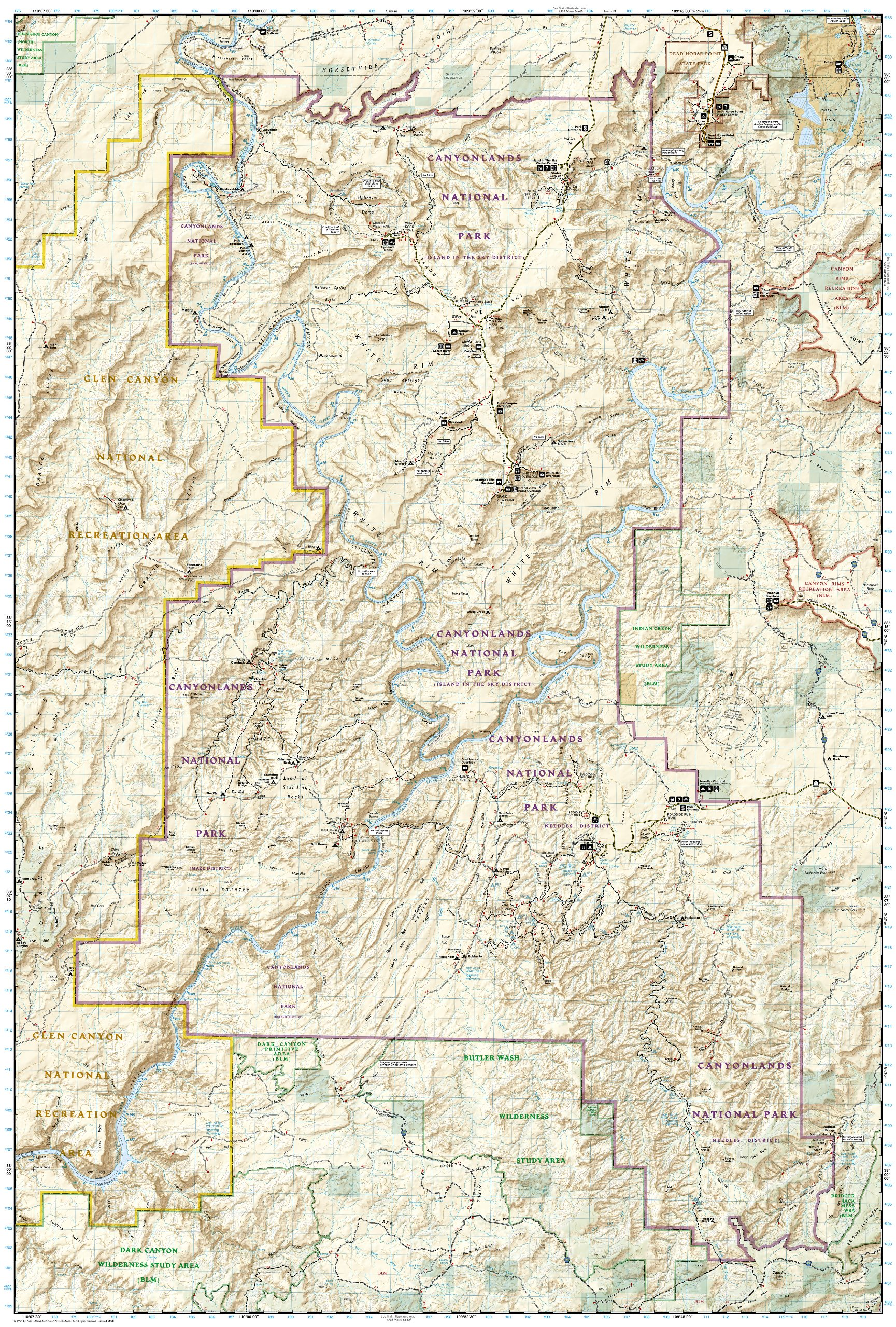 National Geographic Trails Illustrated Map 210 Canyonlands UT