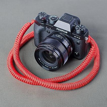 Paracord camera strap High Strength Nylon Rope HandMade Camera Strap Black