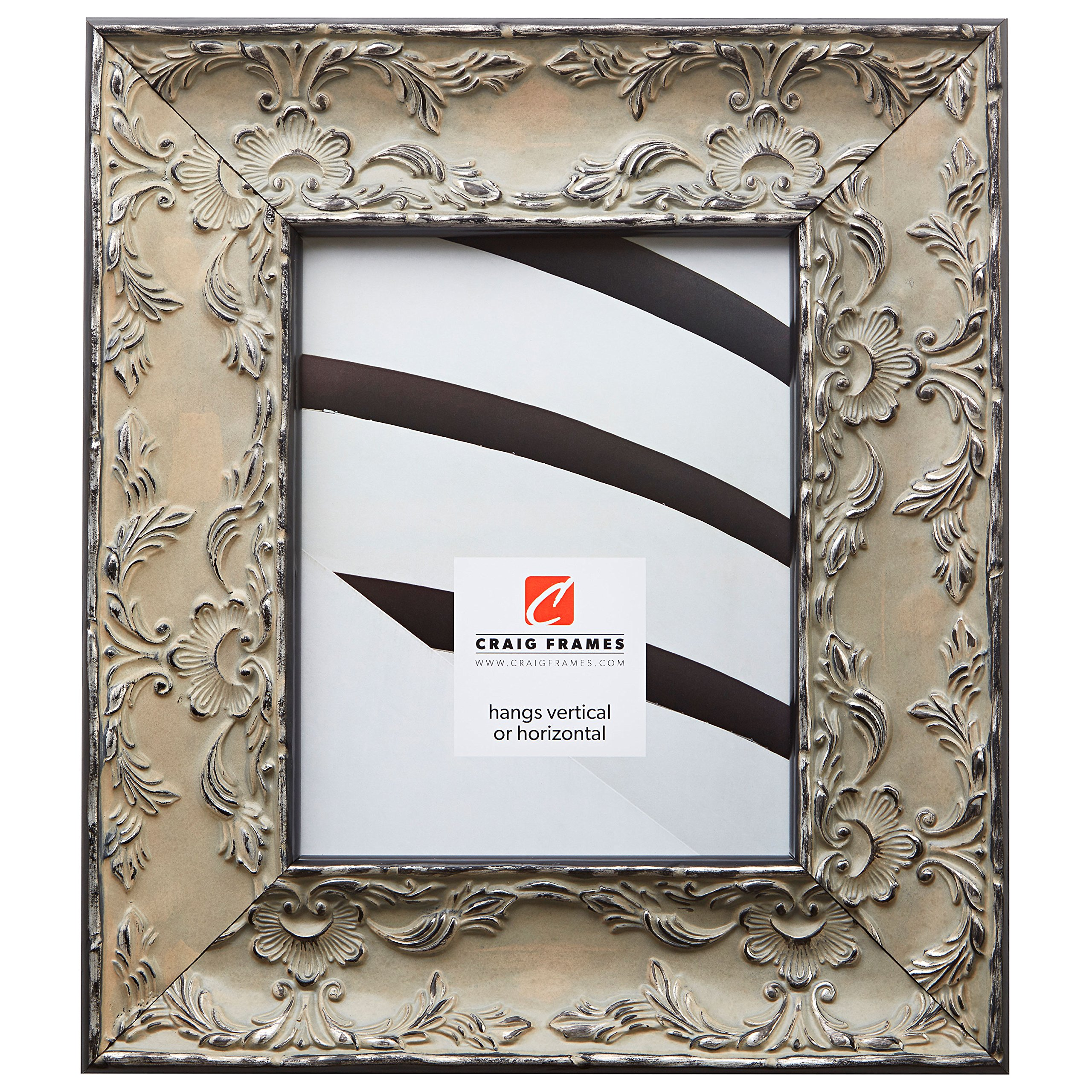 Craig Frames Renaissance, Off-White French Country Picture Frame, 5 by 7-Inch