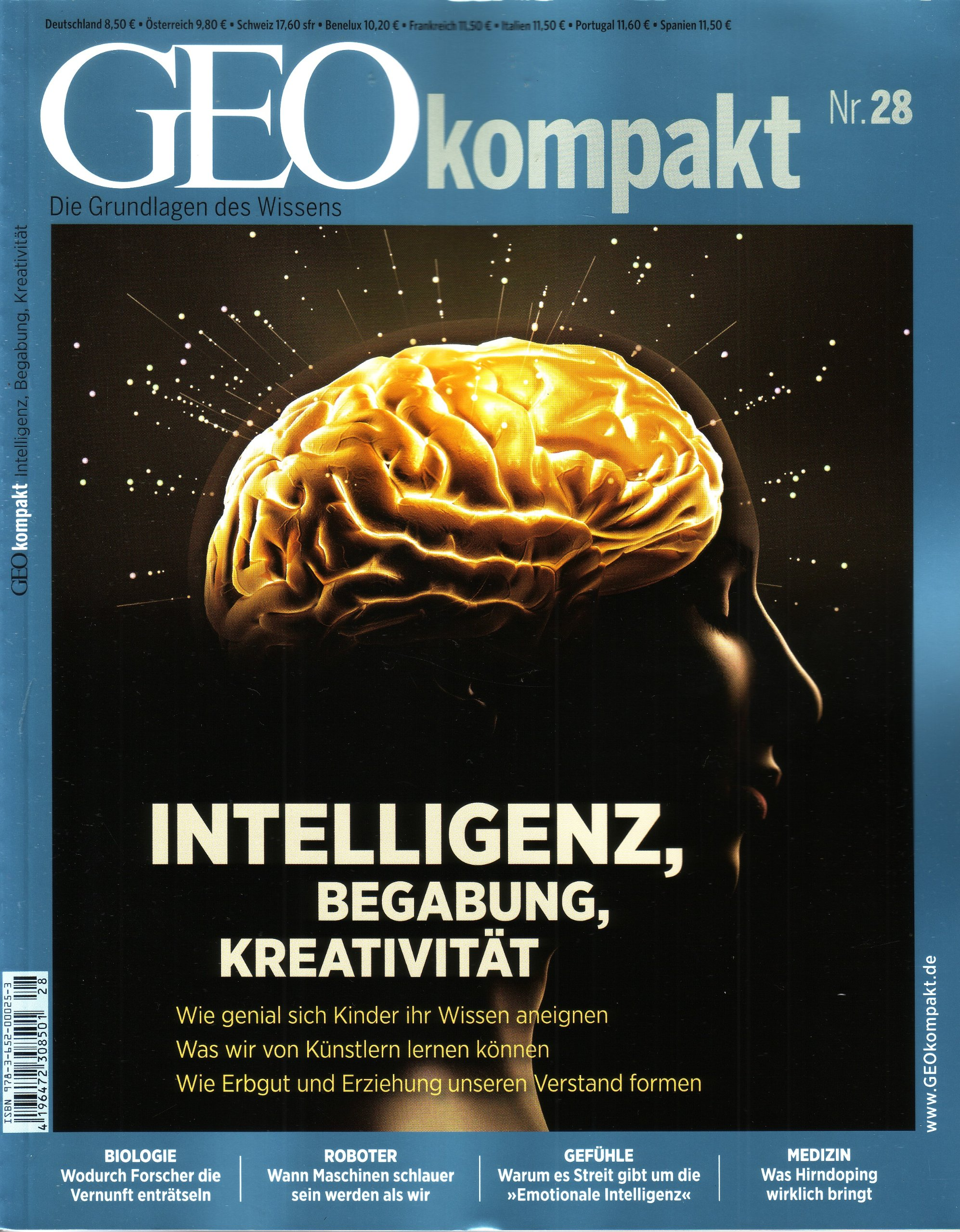 GEO kompakt (mit DVD) 28/11 : Intelligenz, Begabung, Kreativität