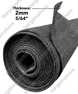 Polymat Audio 16 Ft By 3.75 Ft Wide Charcoal / Dark Grey Carpet