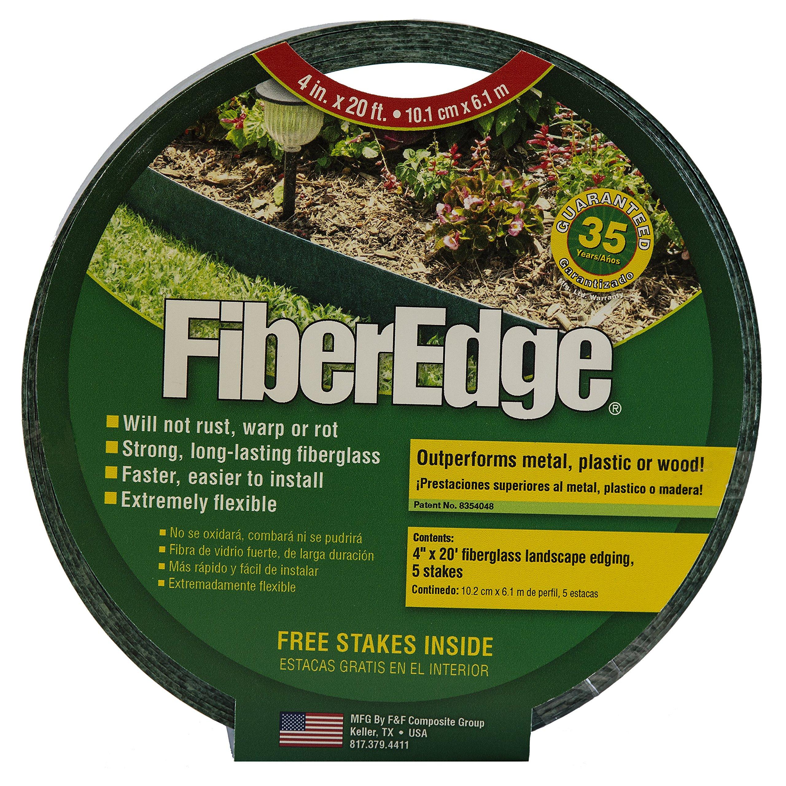 FiberEdge - 4'' Green Fiberglass Edging