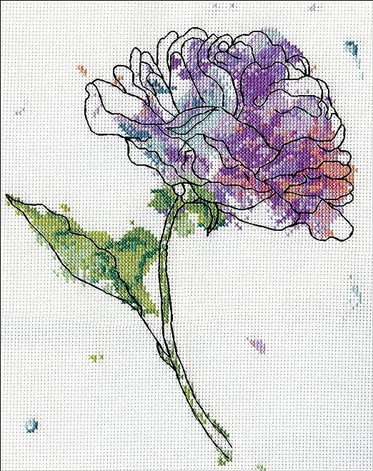 Design Works Lila Juego de Punto de Cruz (diseño de Flores ...