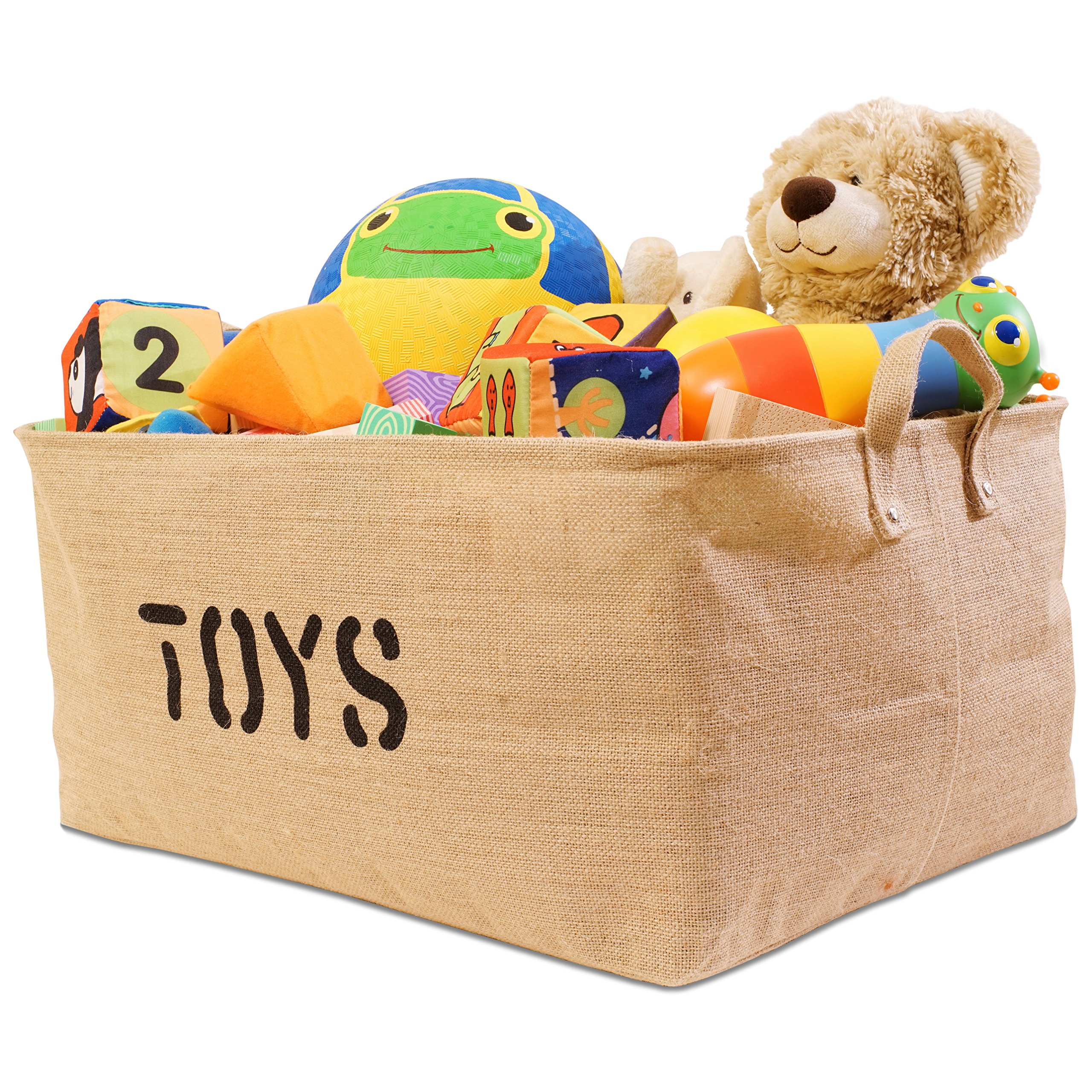 Jute Toys Storage Bins 22 Inches Long By 15 Inches Wide 3 SIZES Storage Bin,