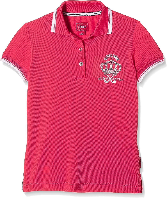 XFORE Camiseta Polo de Golf Técnica Bordado Para Niñas, Belinda ...