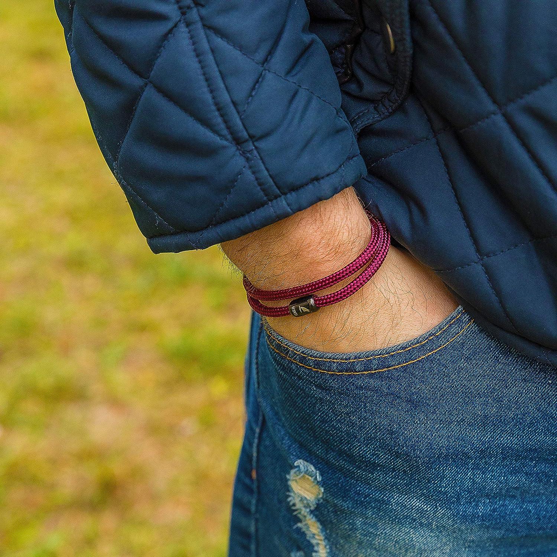 Wind Passion Armband Unisex Maritim Segeltau mit Magnetverschluss f/ür M/änner und Frauen