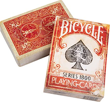 2 DECKS BICYCLE ELLUSIONIST VINTAGE 1800 BLUE AND RED MARKED PLAYING CARDS NEW