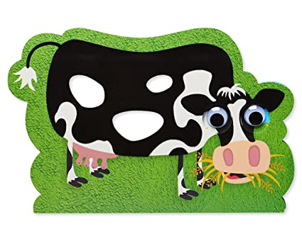Amazon Com American Greetings Funny Cow Birthday Card With Googly
