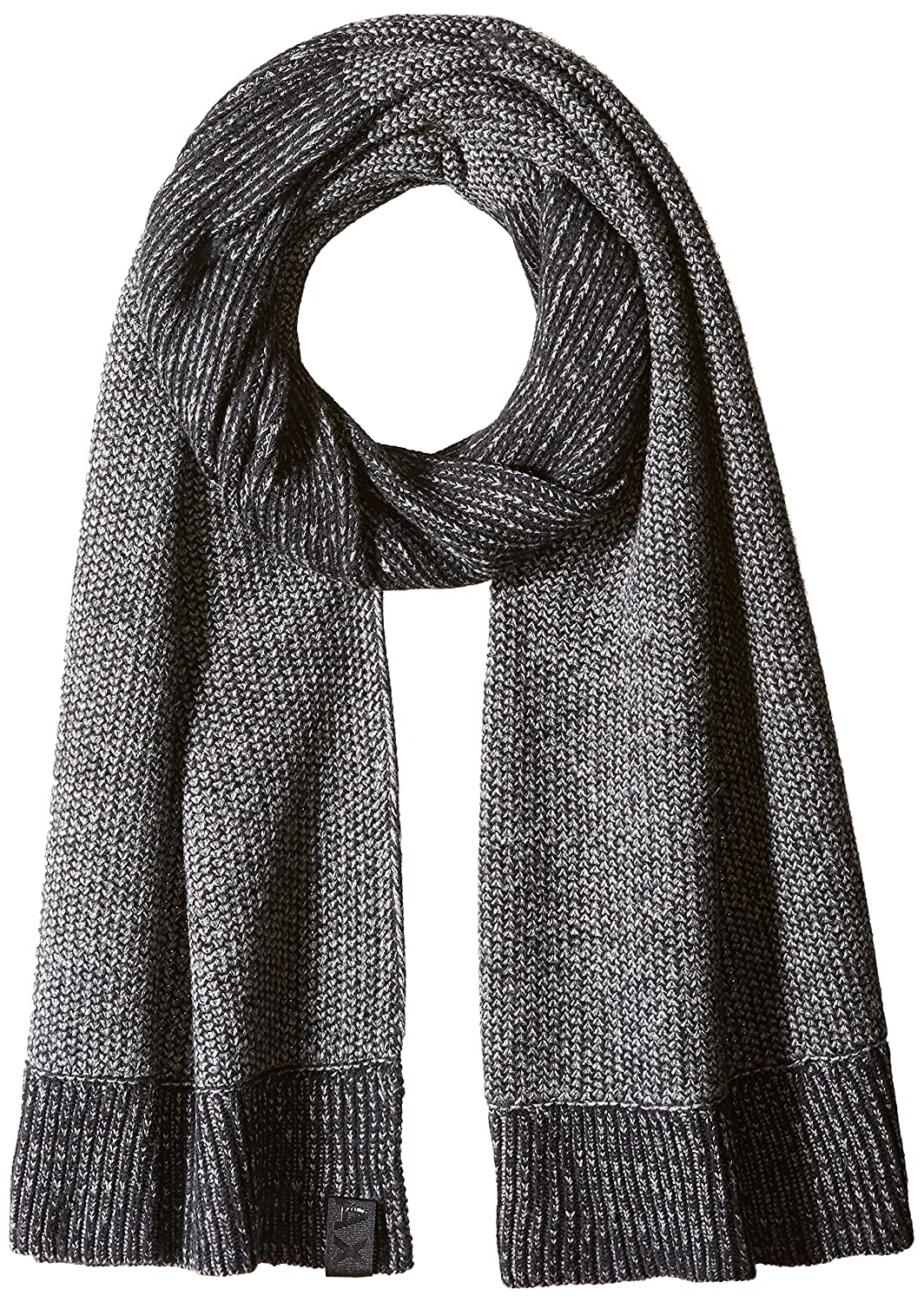 Armani Exchange Men's Two Tone Textured Knit Scarf Black/Charcoal One Size 6YZ475ZMJ2Z0258