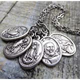 Heart Patients Healing Prayer Holy Medal Necklace, St. Raphael Patron Saints of Healing, Heart Patients, Heart Disease, Heart Attack Patients Get Well Gift