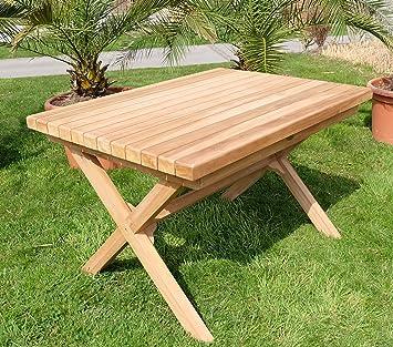 Stunning Beau Wuchtiger Teak Designer Tisch Holztisch Gartentisch Garten  Tisch Xcm Holz Gelt Modell Rio Von As With Holztisch Garten Ausziehbar