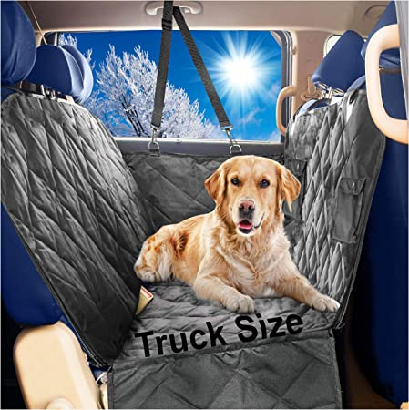 Black Car Rear Back Seat Cover for Dog Pet Waterproof Protector Hammock Washable