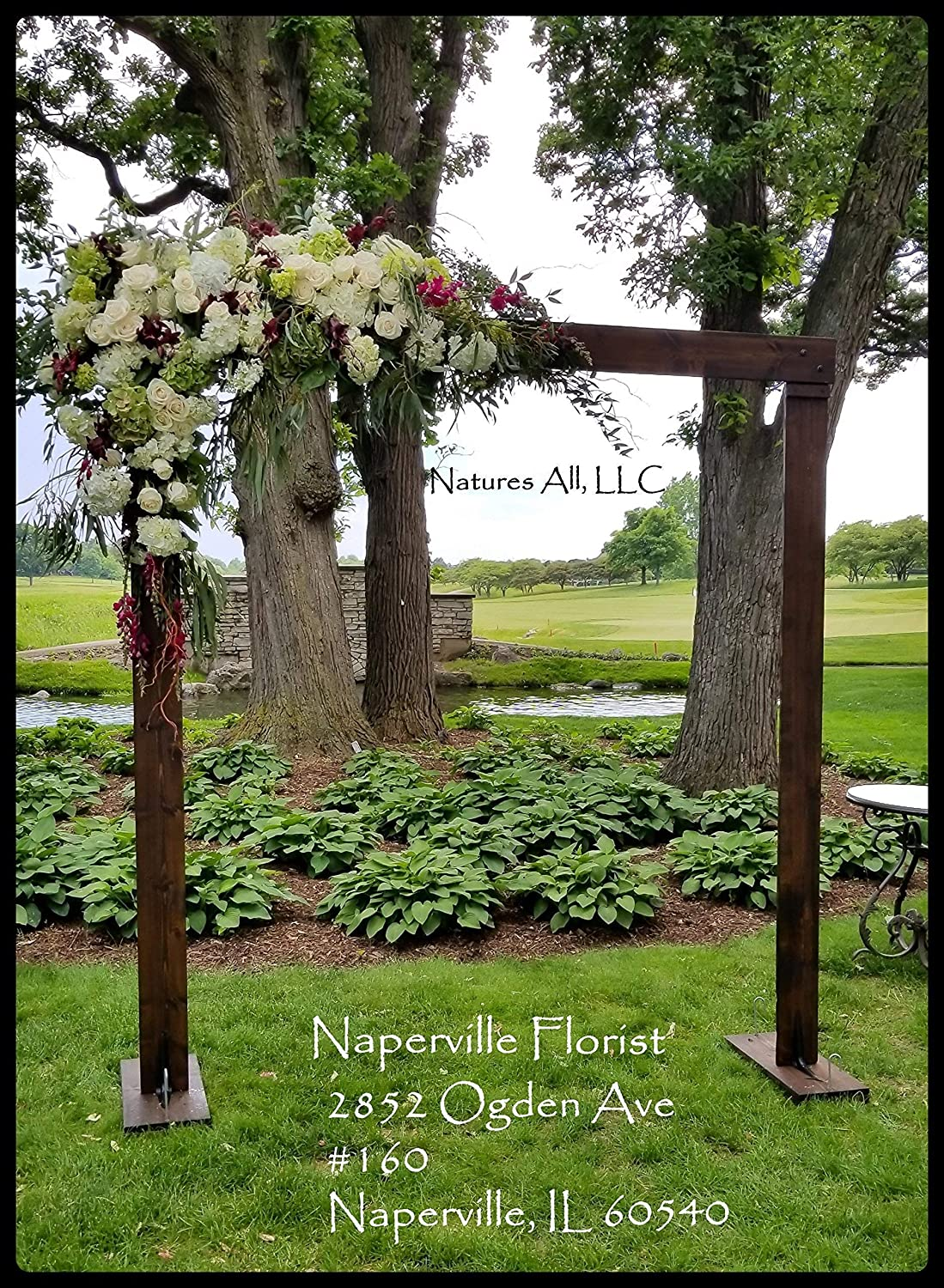 Rustic Wedding Arch.Rustic Wooden Wedding Arch Or Arbor Complete Kit For Indoor Or Outdoor Weddings Stained In Dark Walnut