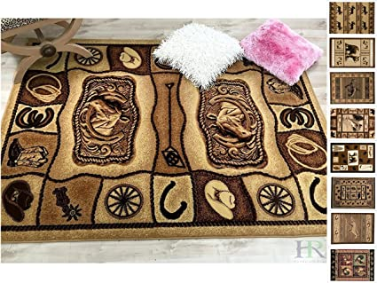 Amazon Com Handcraft Rug Lodge Cabin Nature And Animals Area Rug