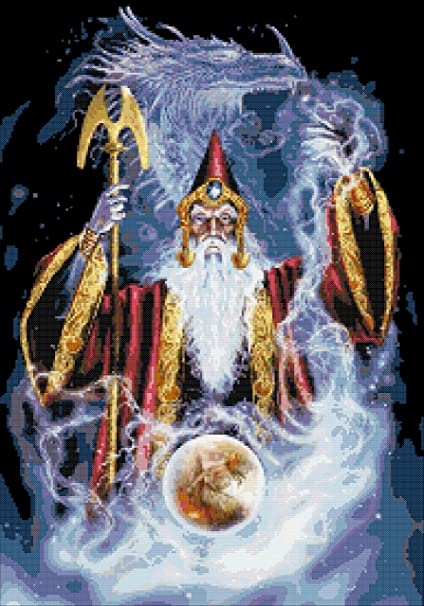 amazon com wizard and dragon fantasy counted cross stitch kit