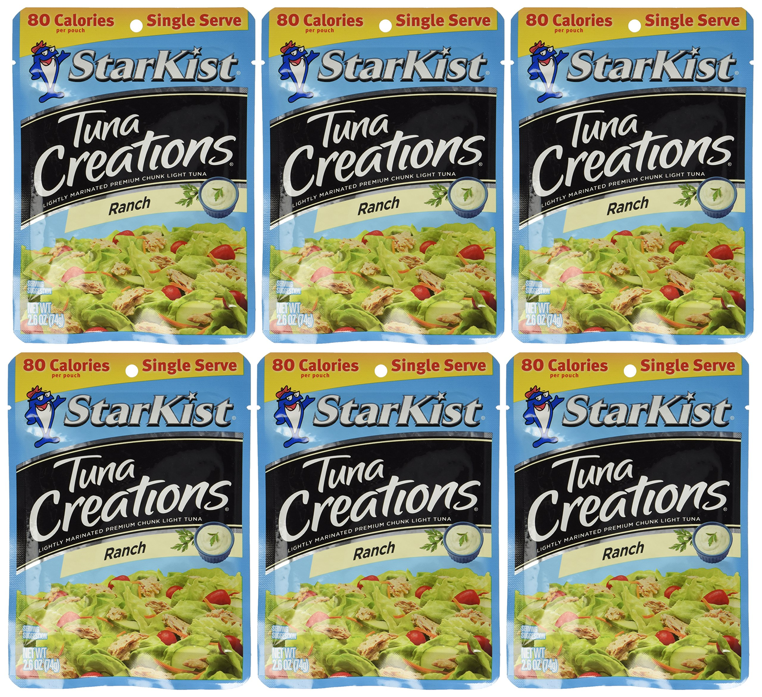 Starkist Tuna Creations Ranch Single Serve 2.6oz Pouch (Pack of 6)