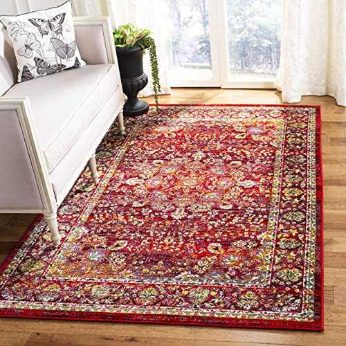 Safavieh Cherokee Collection CHR919Q Area Rug, 8 x 10 , Red Red