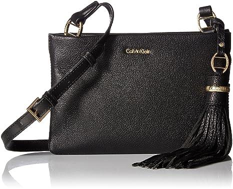 Amazon.com  Calvin Klein womens Calvin Klein Holly Pebble Leather ... baab4a5e11649